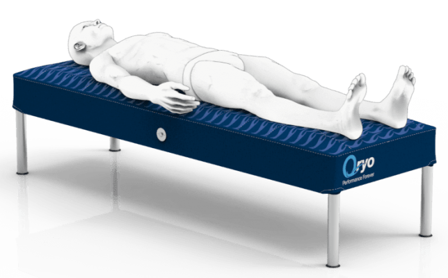 Recovery Bed for Active Muscle Recovery and to Preserve Mobility. Massage Waves